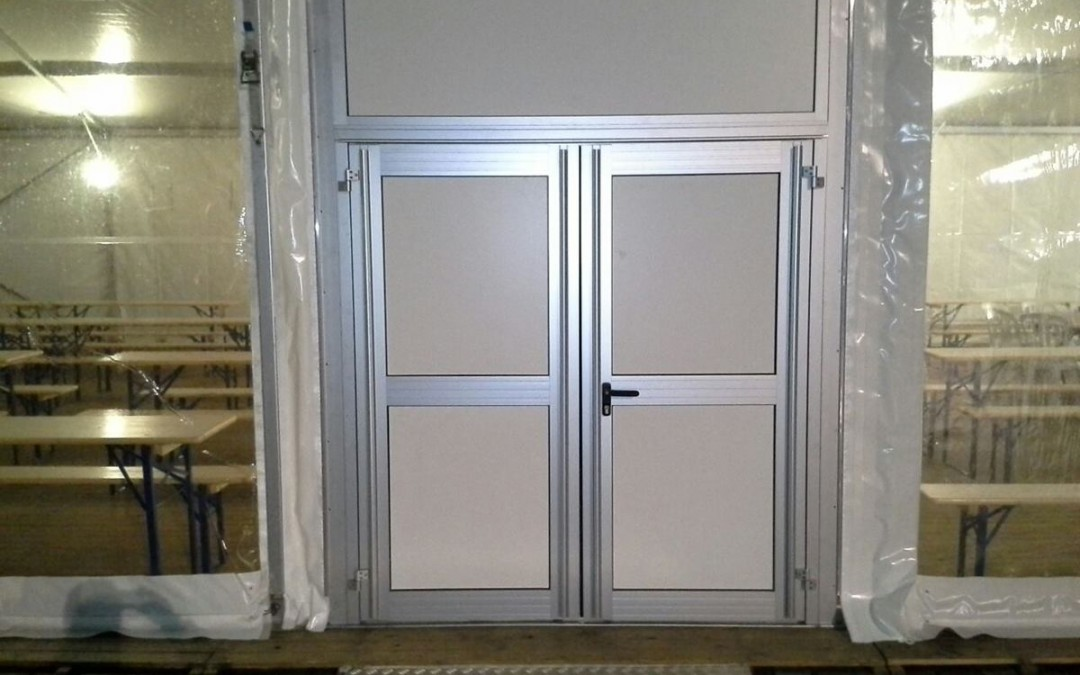 0108 Dubbele deur voor kadertent